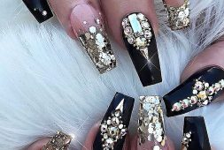 33-black-nails-design-ideas-different-acrylic-polish-and-coffin-methods