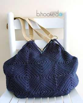 Granny Square tote bag free pattern
