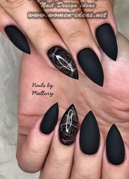 38-gorgeous-short-matte-stiletto-nails-that-can-inspiration-you
