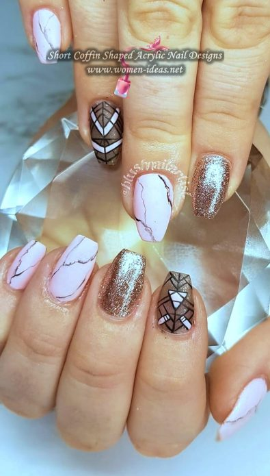 26-short-coffin-shaped-acrylic-nail-ideas-for-spring-and-summer-season